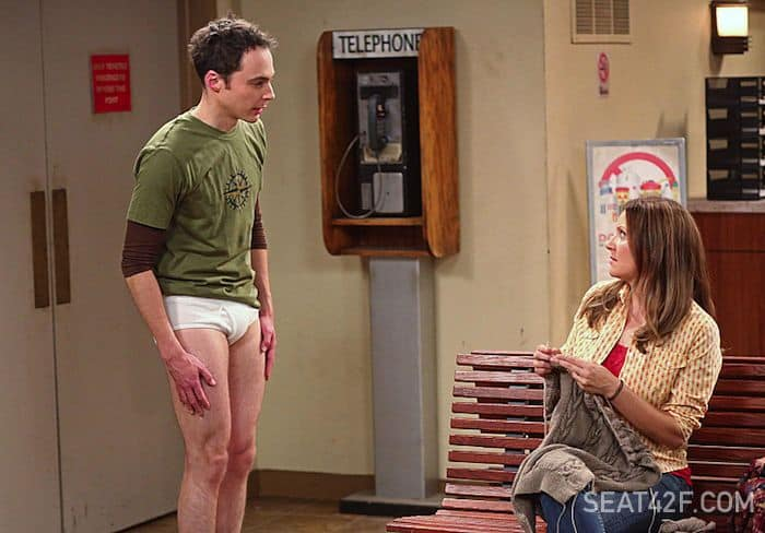 Sheldon (Jim Parson, left), on THE BIG BANG THEORY
