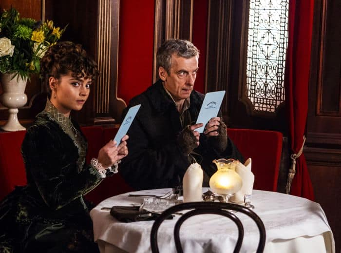 Doctor Who, Season 8, Episode 1, Clara (Jenna Coleman) and the Doctor (Peter Capaldi)