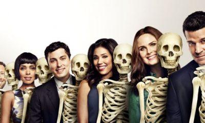 Bones Cast Season 10 TJ Thyne, Tamara Taylor, John Francis Daley, Michaela Conlin, Emily Deschanel and David Boreanaz