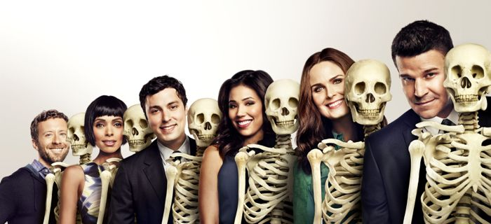 Bones Cast Season 10 TJ Thyne, Tamara Taylor, John Francis Daley, Michaela Conlin, Emily Deschanel and David Boreanaz