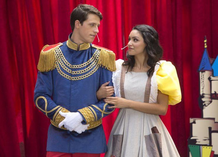 Bianca Santos as 'Lucy' & Shane Harper as 'Ian' in costume Happyland MTV