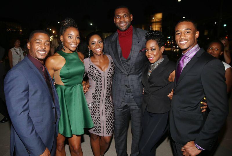 RonReaco Lee, Erica Ash, Teyonah Parris, LeBron James, Tichina Arnold, Jessie T. Usher Survivor's Remorse Starz