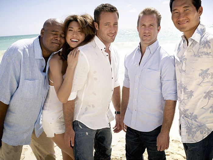 Chi McBride, Grace Park, Alex O'Loughlin, Scott Cann, and Daniel Dae Kim H50