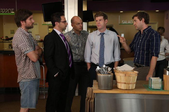 Jon Lajoie as Taco, Nick Kroll as Ruxin, Paul Scheer as Andre, Stephen Rannazzisi as Kevin, Mark Duplass as Pete The League