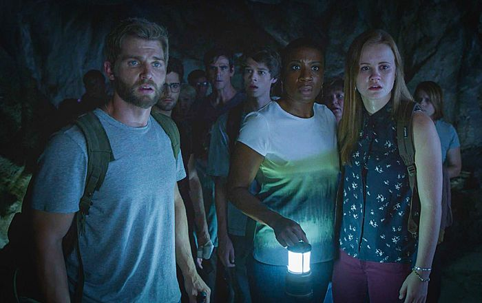 "Mike Vogel Dale ""Barbie"" Barbara, Max Ehrich as Hunter, Eddie Cahill as Sam Verdreaux, Colin Ford as Joe McAlister, Aisha Hinds as Carolyn Hill and Mackenzie Lintz as Norrie Calvert-Hill Under The Dome Go Now"