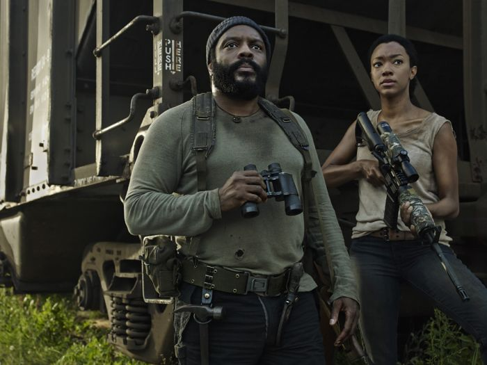 Chad Coleman as Tyreese and Sonequa Martin The Walking Dead Season 5
