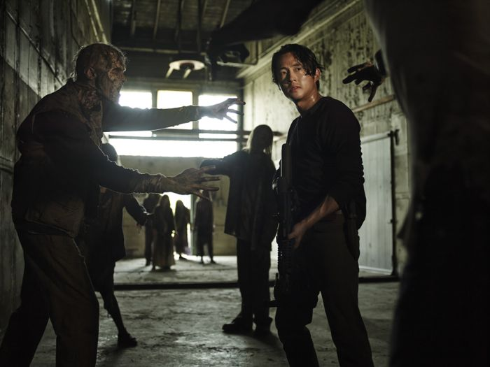 Steven Yeun as Glenn Rhee The Walking Dead Season 5