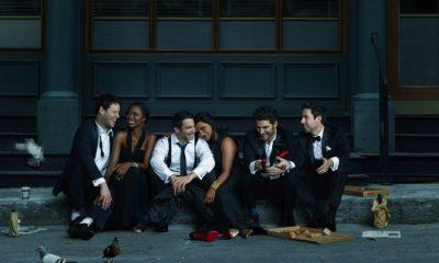 The Mindy Project Cast Season 3 Ike Barinholtz, Xosha Roquemore, Chris Messina, Mindy Kaling, Adam Pally and Ed Weeks
