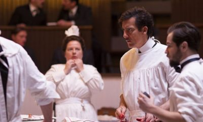 THE KNICK episode 4: Zusanna Szadkowski, Clive Owen, Michael Angarano. photo: Mary Cybulski