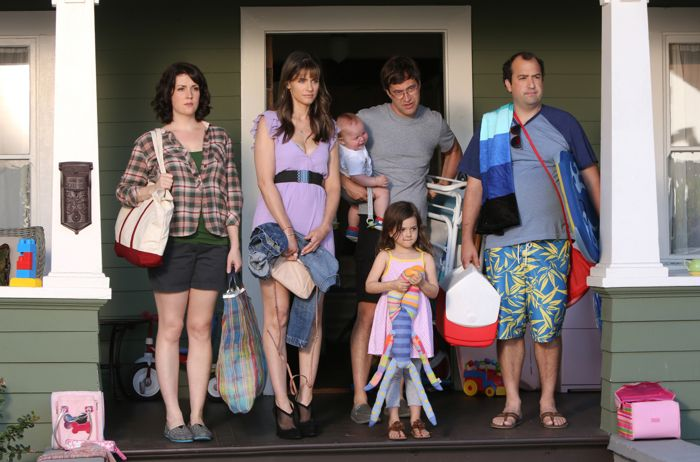 Togetherness HBO Melanie Lynskey, Amanda Peet, Mark Duplass, Abby Ryder Fortson, Steve Zissis. photo: Jaimie Trueblood