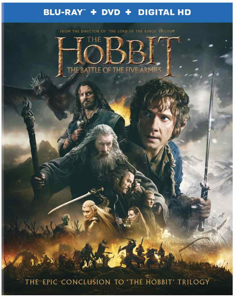 THE HOBBIT THE BATTLE OF FIVE ARMIES Bluray DVD Cover 1
