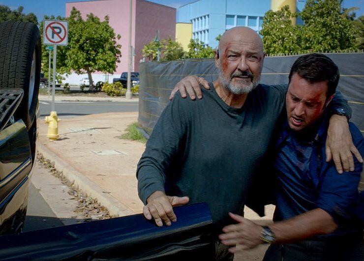 Terry O'Quinn as Joe White and Alex O'Loughlin as Steve McGarrett Hawaii Five-0