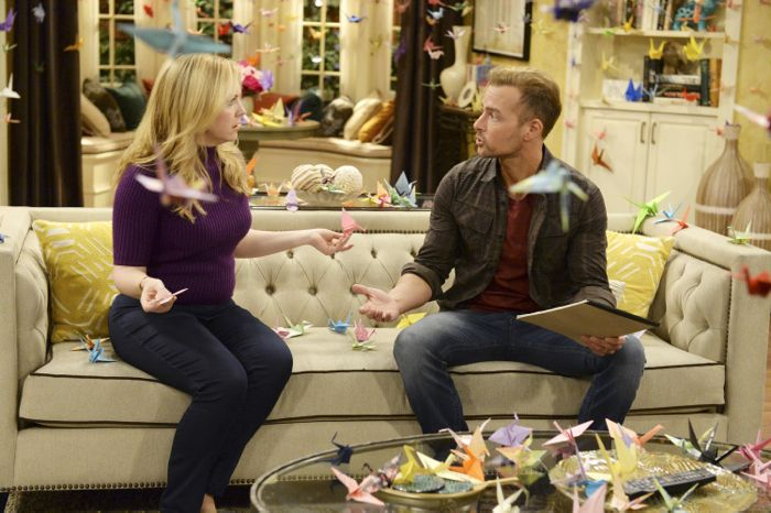 """MELISSA & JOEY - """"Call of Duty"""" - Mel and Joe are so beside themselves that Ryder wants to join the Navy on the summer premiere of """"Melissa & Joey,"""" airing Wednesday, June 3rd (8:00PM ET/PT) on ABC Family. (ABC Family/Eric McCandless) MELISSA JOAN HART, JOEY LAWRENCE"""