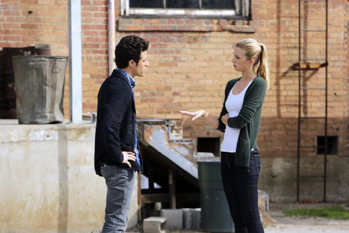 "STITCHERS - ""Friends in Low Places"" - Kirsten crosses paths with Detective Fisher again when they end up working on the same overdose death of a young woman in an all-new episode of ""Stitchers,"" airing Tuesday, June 9, 2015 at 9:00PM ET/PT on ABC Family. (ABC Family/Tony Rivetti) KYLE HARRIS, EMMA ISHTA"