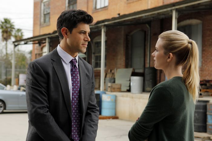 "STITCHERS - ""Friends in Low Places"" - Kirsten crosses paths with Detective Fisher again when they end up working on the same overdose death of a young woman in an all-new episode of ""Stitchers,"" airing Tuesday, June 9, 2015 at 9:00PM ET/PT on ABC Family. (ABC Family/Tony Rivetti) DAMON DAYOUB, EMMA ISHTA"