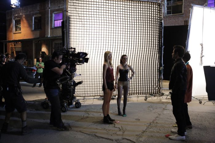 """STITCHERS - """"Friends in Low Places"""" - Kirsten crosses paths with Detective Fisher again when they end up working on the same overdose death of a young woman in an all-new episode of """"Stitchers,"""" airing Tuesday, June 9, 2015 at 9:00PM ET/PT on ABC Family. (ABC Family/Tony Rivetti) EMMA ISHTA, ALLISON SCAGLIOTTI"""