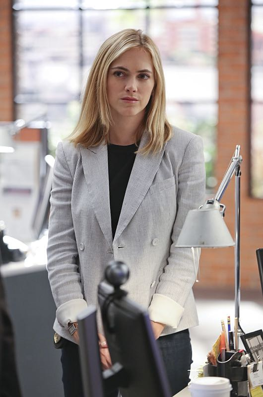 """Stop the Bleeding"" -- Gibbs fights for his life aboard a Navy hospital ship after being shot, while DiNozzo and Joanna Teague travel to Shanghai to try and take down the Calling, on the 13th season premiere of NCIS, Tuesday, Sept. 22 (8:00-9:00 PM, ET/PT), on the CBS Television Network. Pictured: Emily Wickersham Photo: Monty Brinton/CBS ©2015 CBS Broadcasting, Inc. All Rights Reserved"