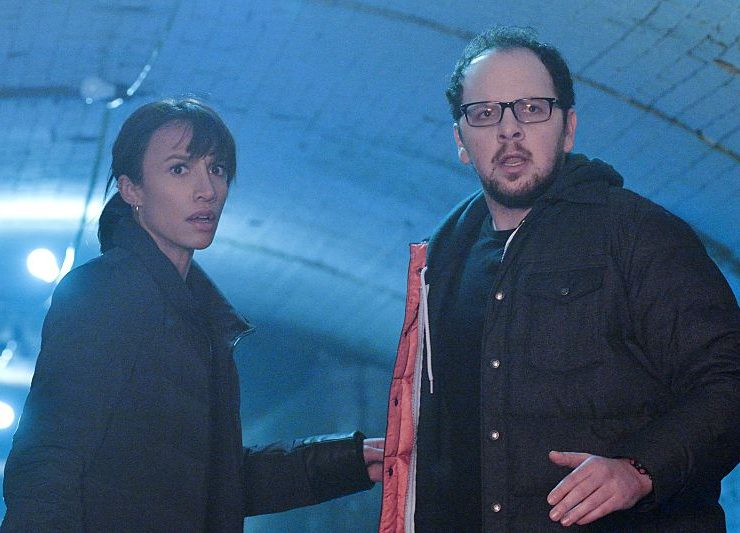 Nina Lisandrello as Tess and Austin Basis as JT   Photo: Ben Mark Holzberg/The CW