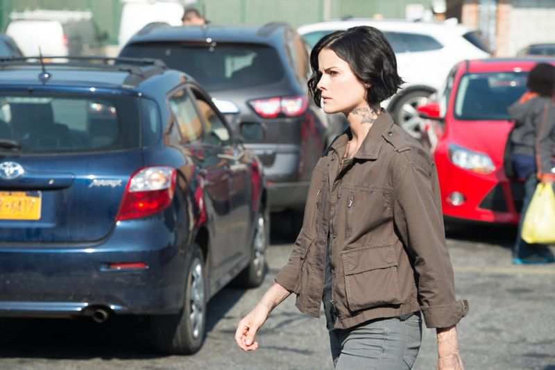 "BLINDSPOT -- ""Eight Slim Grins"" Episode 103 -- Pictured: Jaimie Alexander as Jane Doe -- (Photo by: JoJo Whilden/NBC)"