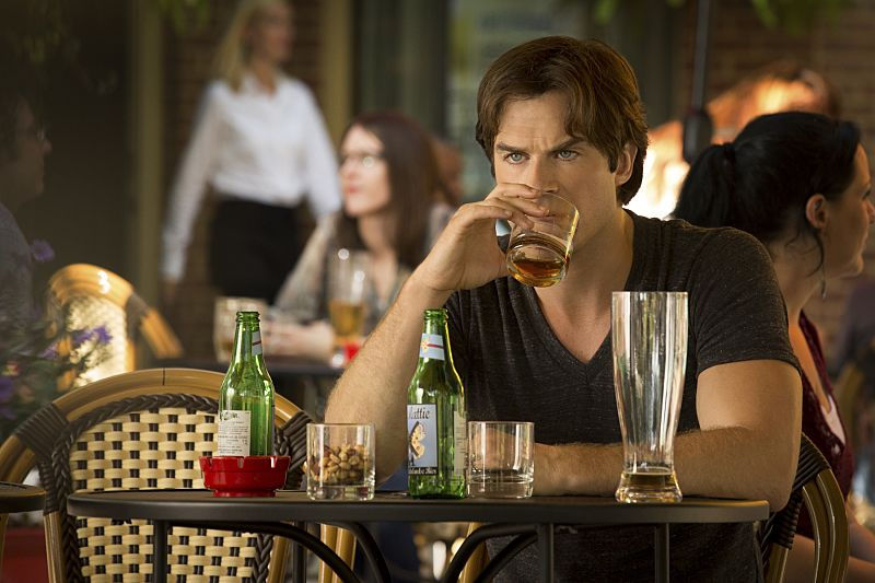 "The Vampire Diaries -- ""Day One of Twenty-Two Thousand, Give or Take"" Pictured: Ian Somerhalder as Damon -- Photo: Bob Mahoney/The CW"