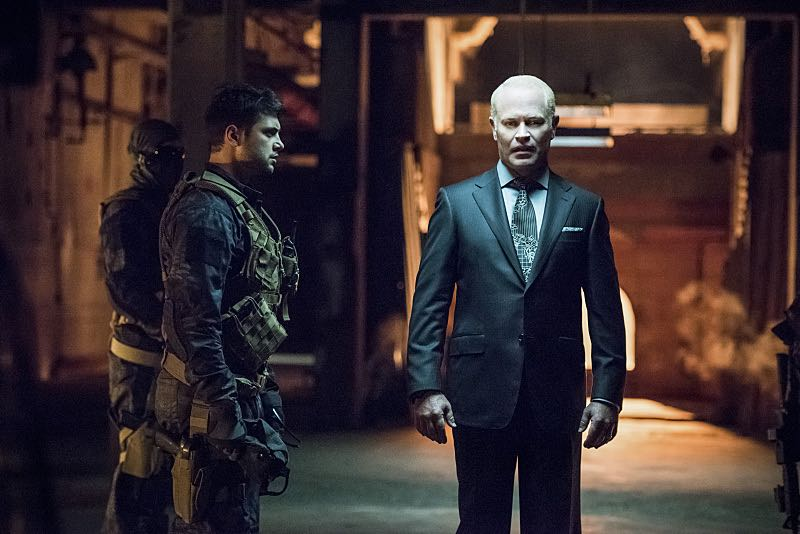 """Arrow -- """"Green Arrow"""" -- Image AR401B_0187b -- Pictured: Neal McDonough as Damien Darhk -- Photo: Dean Buscher /The CW -- © 2015 The CW Network, LLC. All Rights Reserved"""