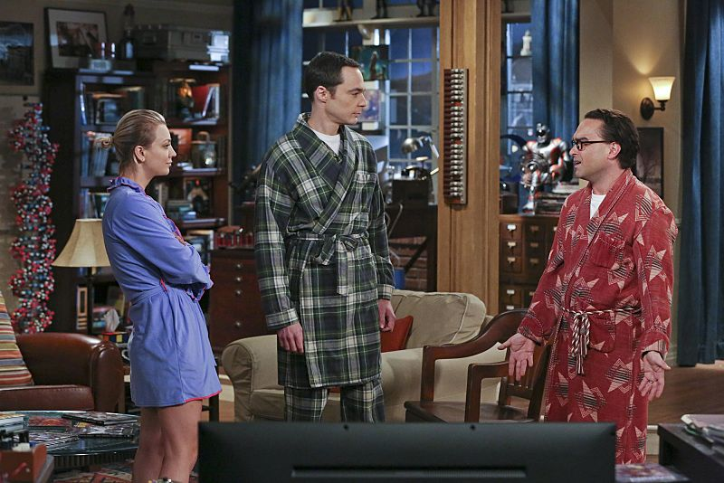 """The Separation Oscillation"" -- Leonard (Johnny Galecki, right) confronts the woman he kissed on the North Sea in an attempt to set Penny's (Kaley Cuoco-Sweeting, left) mind at ease. Also, Sheldon (Jim Parsons, center) films a special episode of ""Fun with Flags"" after his breakup with Amy, on THE BIG BANG THEORY, Monday, Sept. 28 (8:00-8:31 PM, ET/PT), on the CBS Television Network.  Photo: Michael Yarish/Warner Bros. Entertainment Inc. © 2015 WBEI. All rights reserved."