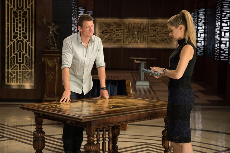 "THE PLAYER -- ""A House Is Not A Home"" Episode 106 -- Pictured: (l-r) Philip Winchester as Alex, Charity Wakefield as Cassandra -- (Photo by: Colleen Hayes/NBC)"