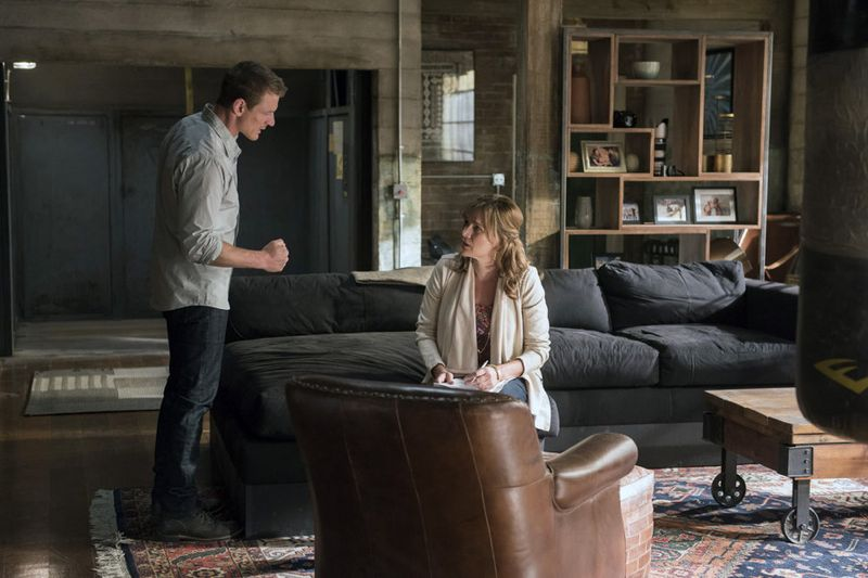 "THE PLAYER -- ""A House is Not a Home"" Episode 106 -- Pictured: (l-r) Philip Winchester as Alex, Catherine Dent as Barbara Lee -- (Photo by: Brandon Hickman/NBC)"