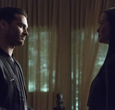 """The Vampire Diaries -- """"Live Through This"""" (L-R): Michael Malarkey as Enzo and Annie Wersching as Lily -- Photo: Annette Brown/The CW"""