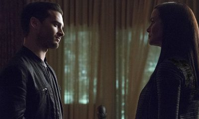 "The Vampire Diaries -- ""Live Through This"" (L-R): Michael Malarkey as Enzo and Annie Wersching as Lily -- Photo: Annette Brown/The CW"