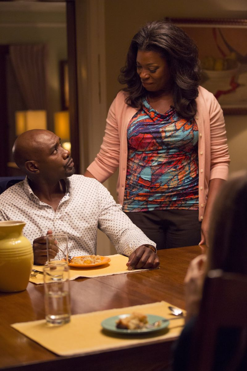 "ROSEWOOD: L-R: Morris Chestnut and Lorraine Toussaint in the ""Policies and Ponies"" episode of ROSEWOOD airing Wednesday, Nov. 4 (8:00-9:00 PM ET/PT) on FOX. ©2015 Fox Broadcasting Co. Cr: John P. Fleenor/FOX."