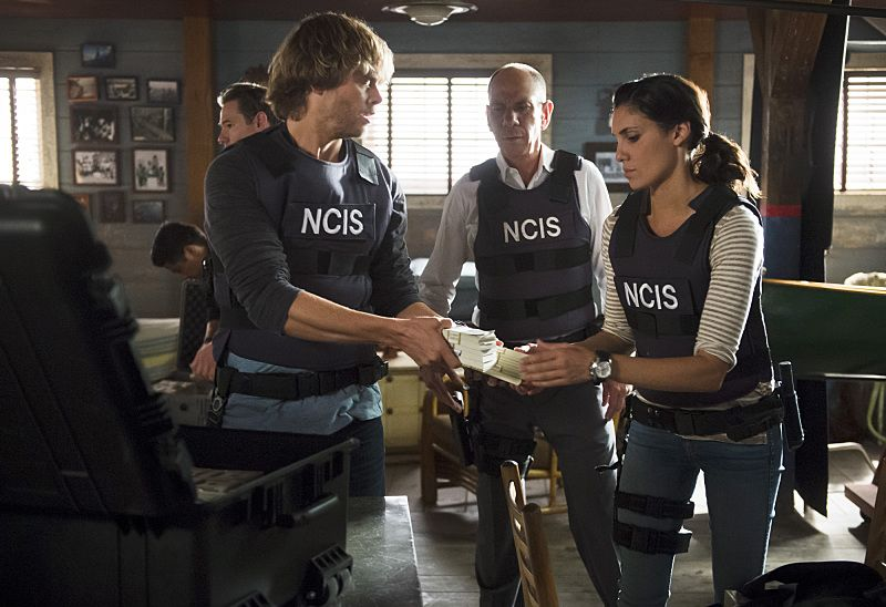 """Unspoken"" -- Pictured: Eric Christian Olsen (LAPD Liaison Marty Deeks), Miguel Ferrer (NCIS Assistant Director Owen Granger) and Daniela Ruah (Special Agent Kensi Blye). The team searches for Sam's former partner, Ruiz (Anthony Ruivivar), who disappears while buying a deadly explosive during an undercover operation, on NCIS: LOS ANGELES, Monday, Nov. 2 (10:00-11:00, ET/PT), on the CBS Television Network. Photo: Neil Jacobs/CBS ©2015 CBS Broadcasting, Inc. All Rights Reserved."