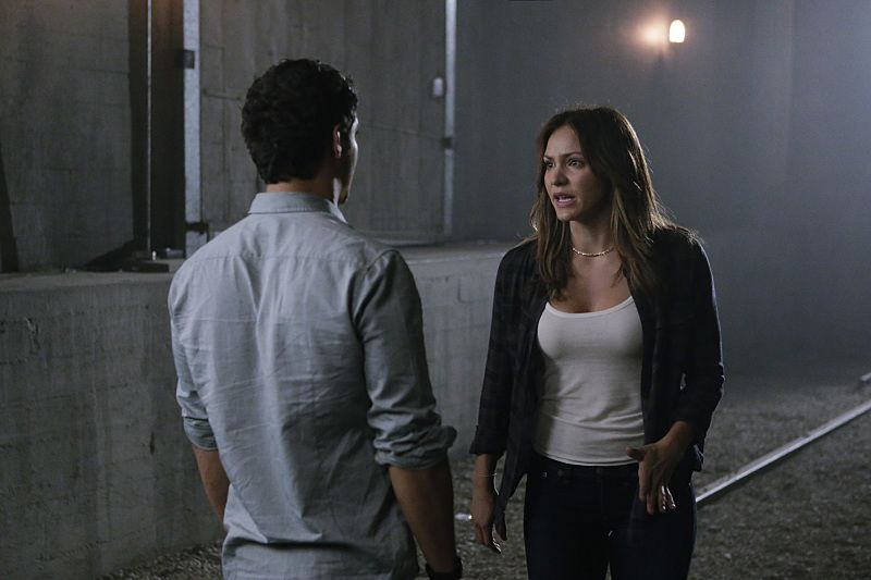 """""""Crazy Train"""" -- Team Scorpion must stop a sabotaged runaway subway train with Paige and Ralph on board. Also, in his attempt to impress Happy, Toby has his first boxing match, on SCORPION, Monday, Nov. 2 (9:00-9:59 PM, ET/PT) on the CBS Television Network. Pictured: Elyes Gabel as Walter O'Brien, Katharine McPhee as Paige Dineen. Photo: Sonja Flemming/CBS ©2015 CBS Broadcasting, Inc. All Rights Reserved"""