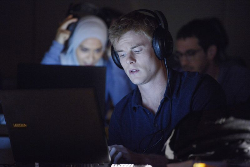 "QUANTICO - ""God"" - The NATs learn surveillance by putting it into practice with Miranda and her troubled son, Charlie. Shelby tries to keep Caleb at a distance, but Raina opens the door to a closer relationship with Simon. In the future, Alex is helped when she tries to hack into an FBI computer, on ""Quantico,"" SUNDAY, NOVEMBER 1 (10:01-11:00 p.m., ET) on the ABC Television Network. (ABC/Phillipe Bosse) YASMINE AL MASSRI, GRAHAM ROGERS"