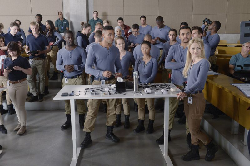 """QUANTICO - """"God"""" - The NATs learn surveillance by putting it into practice with Miranda and her troubled son, Charlie. Shelby tries to keep Caleb at a distance, but Raina opens the door to a closer relationship with Simon. In the future, Alex is helped when she tries to hack into an FBI computer, on """"Quantico,"""" SUNDAY, NOVEMBER 1 (10:01-11:00 p.m., ET) on the ABC Television Network. (ABC/Phillipe Bosse) JACOB ARTIST, JOHANNA BRADDY"""