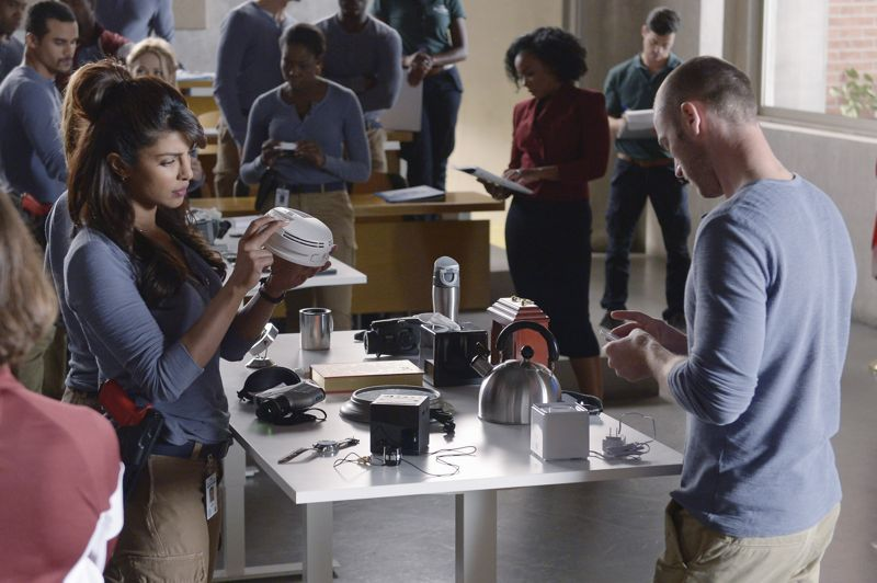 """QUANTICO - """"God"""" - The NATs learn surveillance by putting it into practice with Miranda and her troubled son, Charlie. Shelby tries to keep Caleb at a distance, but Raina opens the door to a closer relationship with Simon. In the future, Alex is helped when she tries to hack into an FBI computer, on """"Quantico,"""" SUNDAY, NOVEMBER 1 (10:01-11:00 p.m., ET) on the ABC Television Network. (ABC/Phillipe Bosse) PRIYANKA CHOPRA, JAKE MCLAUGHLIN"""