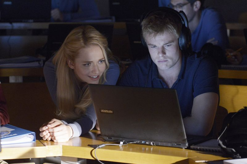 """QUANTICO - """"God"""" - The NATs learn surveillance by putting it into practice with Miranda and her troubled son, Charlie. Shelby tries to keep Caleb at a distance, but Raina opens the door to a closer relationship with Simon. In the future, Alex is helped when she tries to hack into an FBI computer, on """"Quantico,"""" SUNDAY, NOVEMBER 1 (10:01-11:00 p.m., ET) on the ABC Television Network. (ABC/Phillipe Bosse) JOHANNA BRADDY, GRAHAM ROGERS"""