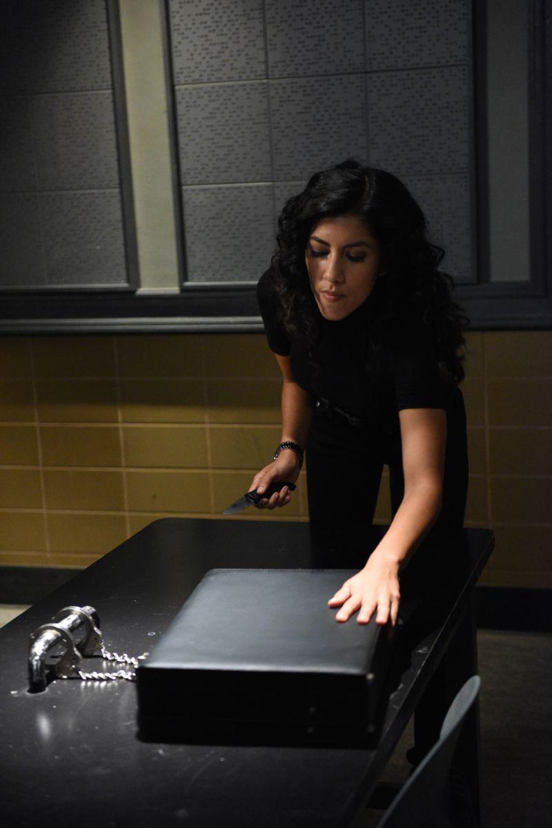 "BROOKLYN NINE-NINE: L-R: Stephanie Beatriz in the ""Halloween 3"" episode of BROOKLYN NINE-NINE airing Sunday, Oct. 25 (8:30-9:00 PM ET/PT) on FOX. ©2015 Fox Broadcasting Co. Cr: FOX"