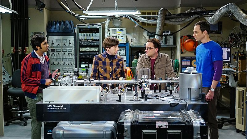 """The Helium Insufficiency"" -- In the midst of a nation-wide helium shortage, Sheldon and Leonard take desperate measures to get the supplies they need, on THE BIG BANG THEORY, Monday, Oct. 26 (8:00-8:30 PM, ET/PT), on the CBS Television Network. Pictured left to right: Kunal Nayyar, Simon Helberg, Johnny Galecki and Jim Parsons Photo: Monty Brinton/CBS ©2015 CBS Broadcasting, Inc. All Rights Reserved"