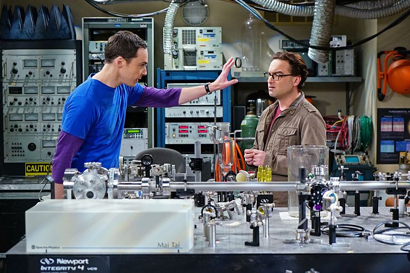 """The Helium Insufficiency"" -- In the midst of a nation-wide helium shortage, Sheldon (Jim Parsons, left) and Leonard (Johnny Galecki, right) take desperate measures to get the supplies they need, on THE BIG BANG THEORY, Monday, Oct. 26 (8:00-8:30 PM, ET/PT), on the CBS Television Network.  Photo: Monty Brinton/CBS ©2015 CBS Broadcasting, Inc. All Rights Reserved"