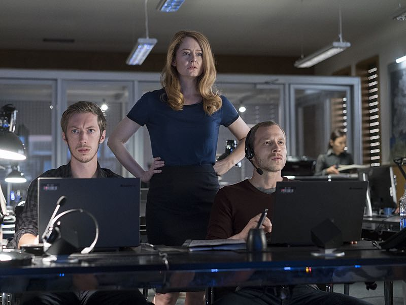 Max Mauf as Gregor, Miranda Otto as Allison Carr and Micah Hauptman as Mills in Homeland (Season 5, Episode 3). - Photo: Stephan Rabold/SHOWTIME - Photo ID; Homeland_503_2407.R