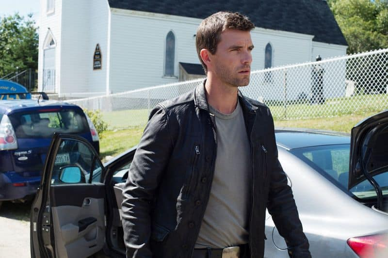"HAVEN -- ""New World Order"" Episode 514 -- Pictured: Lucas Bryant as Nathan Wuornos -- (Photo by: Mike Tompkins/Haven 5 Productions/Syfy)"
