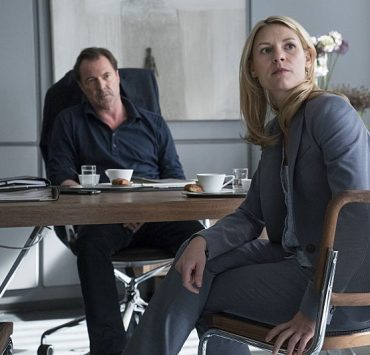 Sebastian Koch as During and Claire Danes as Carrie Mathison in Homeland (Season 5, Episode 01). - Stephan Rabold/SHOWTIME