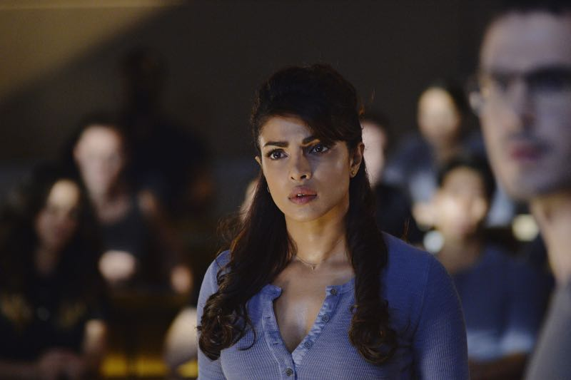 "QUANTICO - ""Go"" - It's midterm exam time at Quantico where the NATS are given an explosive assignment which results in some people going home for good. In the future, Alex continues to try and clear her name, finding Nimah and Raina who provide more questions than answers leaving Alex and the world to wonder, ""who can you really trust?"" on ""Quantico"" SUNDAY, NOVEMBER 8 (10:01-11:00 ET) on the ABC Television Network. (ABC/Jonathan Wenk) PRIYANKA CHOPRA"