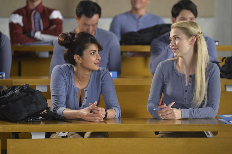 """QUANTICO - """"Go"""" - It's midterm exam time at Quantico where the NATS are given an explosive assignment which results in some people going home for good. In the future, Alex continues to try and clear her name, finding Nimah and Raina who provide more questions than answers leaving Alex and the world to wonder, """"who can you really trust?"""" on """"Quantico"""" SUNDAY, NOVEMBER 8 (10:01-11:00 ET) on the ABC Television Network. (ABC/Jonathan Wenk) PRIYANKA CHOPRA, JOHANNA BRADDY"""