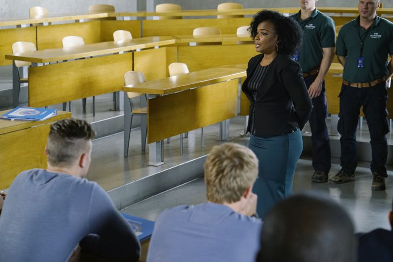 "QUANTICO - ""Go"" - It's midterm exam time at Quantico where the NATS are given an explosive assignment which results in some people going home for good. In the future, Alex continues to try and clear her name, finding Nimah and Raina who provide more questions than answers leaving Alex and the world to wonder, ""who can you really trust?"" on ""Quantico"" SUNDAY, NOVEMBER 8 (10:01-11:00 ET) on the ABC Television Network. (ABC/Jonathan Wenk) AUNJANUE ELLIS"
