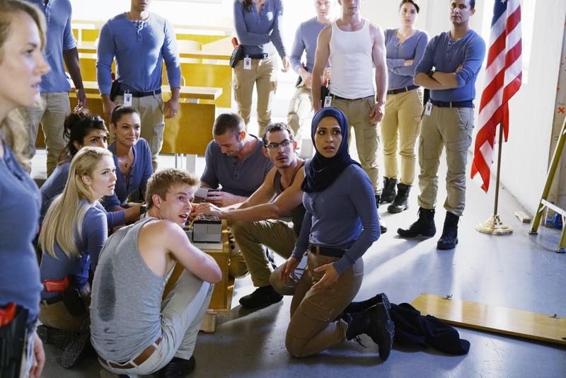 "QUANTICO - ""Go"" - It's midterm exam time at Quantico where the NATS are given an explosive assignment which results in some people going home for good. In the future, Alex continues to try and clear her name, finding Nimah and Raina who provide more questions than answers leaving Alex and the world to wonder, ""who can you really trust?"" on ""Quantico"" SUNDAY, NOVEMBER 8 (10:01-11:00 ET) on the ABC Television Network. (ABC/Jonathan Wenk) JOHANNA BRADDY, PRIYANKA CHOPRA, ANABELLE ACOSTA, GRAHAM ROGERS, JAKE MCLAUGHLIN, TATE ELLINGTON, YASMINE AL MASSRI"