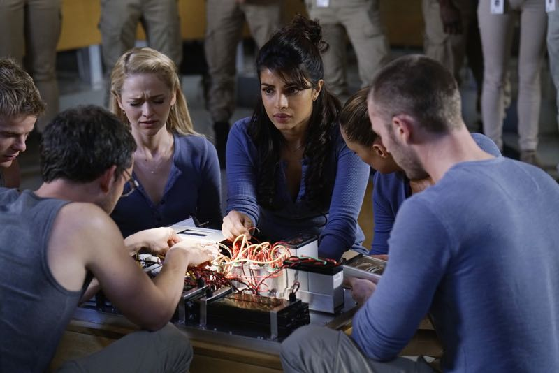 "QUANTICO - ""Go"" - It's midterm exam time at Quantico where the NATS are given an explosive assignment which results in some people going home for good. In the future, Alex continues to try and clear her name, finding Nimah and Raina who provide more questions than answers leaving Alex and the world to wonder, ""who can you really trust?"" on ""Quantico"" SUNDAY, NOVEMBER 8 (10:01-11:00 ET) on the ABC Television Network. (ABC/Jonathan Wenk) GRAHAM ROGERS, TATE ELLINGTON, JOHANNA BRADDY, PRIYANKA CHOPRA, ANABELLE ACOSTA, JAKE MCLAUGHLIN"