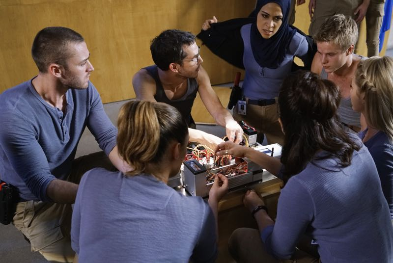 """QUANTICO - """"Go"""" - It's midterm exam time at Quantico where the NATS are given an explosive assignment which results in some people going home for good. In the future, Alex continues to try and clear her name, finding Nimah and Raina who provide more questions than answers leaving Alex and the world to wonder, """"who can you really trust?"""" on """"Quantico"""" SUNDAY, NOVEMBER 8 (10:01-11:00 ET) on the ABC Television Network. (ABC/Jonathan Wenk) JAKE MCLAUGHLIN, ANABELLE ACOSTA, TATE ELLINGTON, YASMINE AL MASSRI, PRIYANKA CHOPRA, GRAHAM ROGERS, JOHANNA BRADDY"""