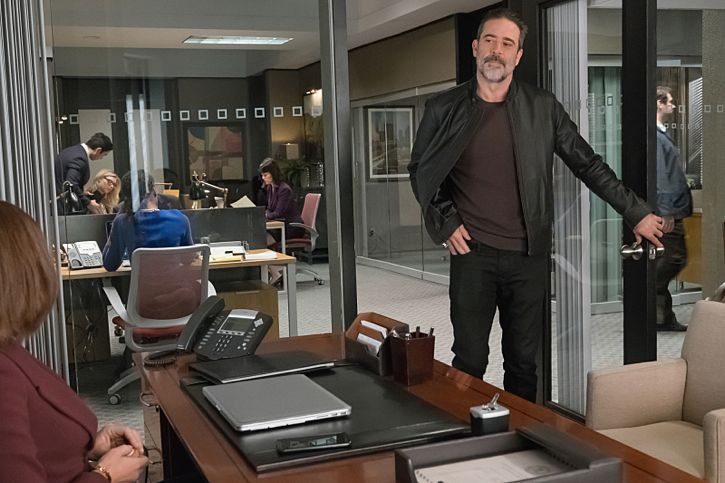 """Targets"" -- Alicia joins a secret panel of attorneys advising the U.S. government on a controversial case. Also, Eli hires Elsbeth Tascioni (Carrie Preston) to uncover why the FBI is targeting Peter, on THE GOOD WIFE, Sunday, Feb. 21 (9:00-10:00 PM, ET/PT) on the CBS Television Network. Jeffrey Dean Morgan as Jason Crouse Photo:  Jeff Neumann/CBS ©2015 CBS Broadcasting, Inc. All Rights Reserved"